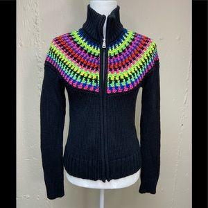 Ralph Lauren Active -VTG Crochet Rainbow Sweater